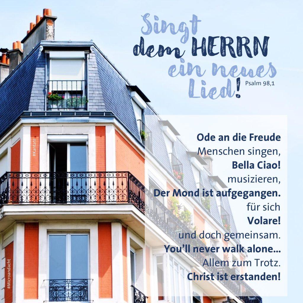 Die #Microandacht am Sonntag #Kantate kommt von Pfarrerin Nina Ciesielski aus Castrop-Rauxel.