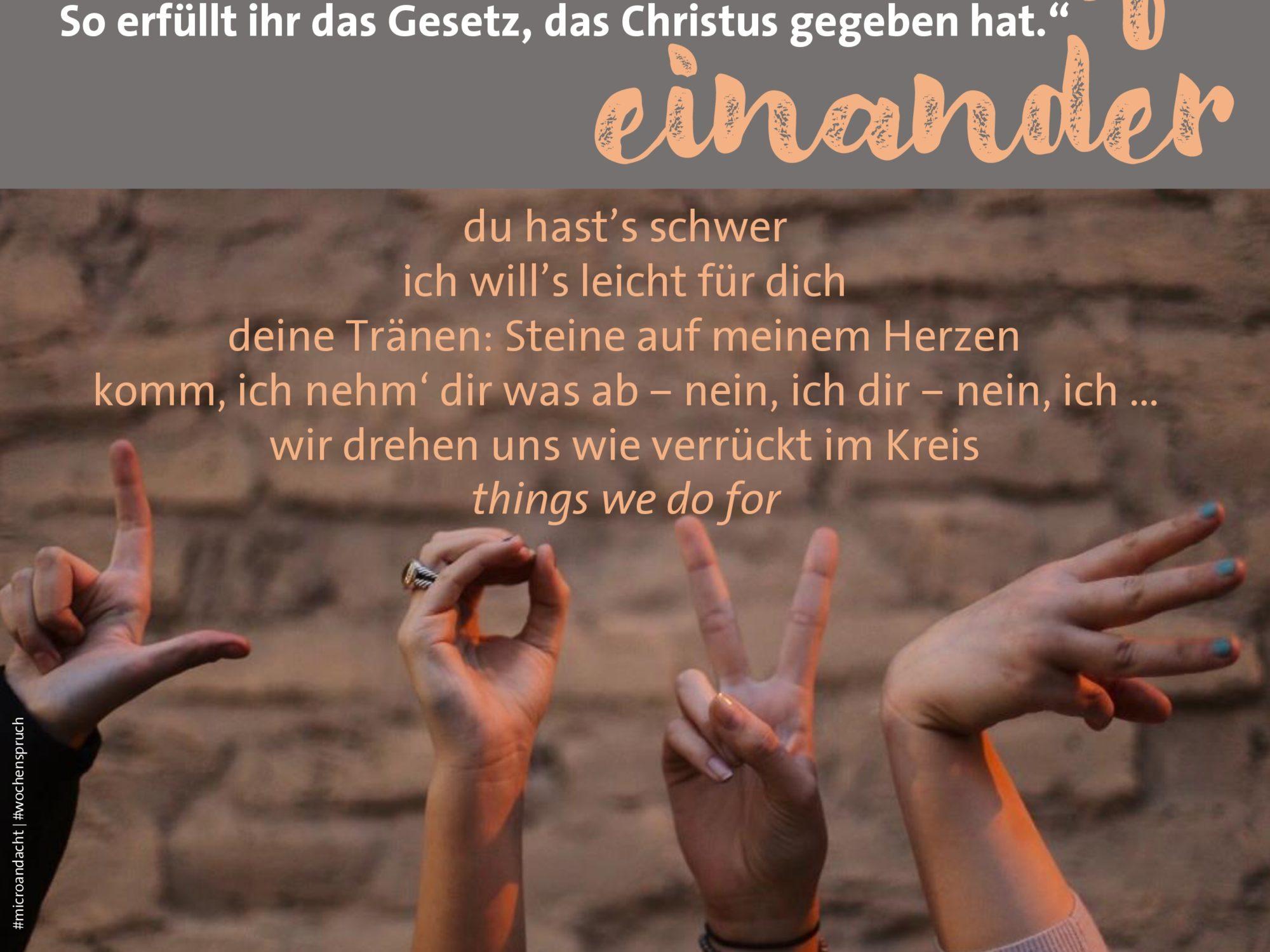 Microandacht zum Wochenspruch von Pfarrerin Julia-Rebecca Riedel.